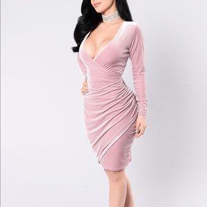 Fashion Nova Blush/Mauve Dress
